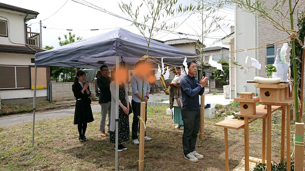 鶴ヶ島で地鎮祭