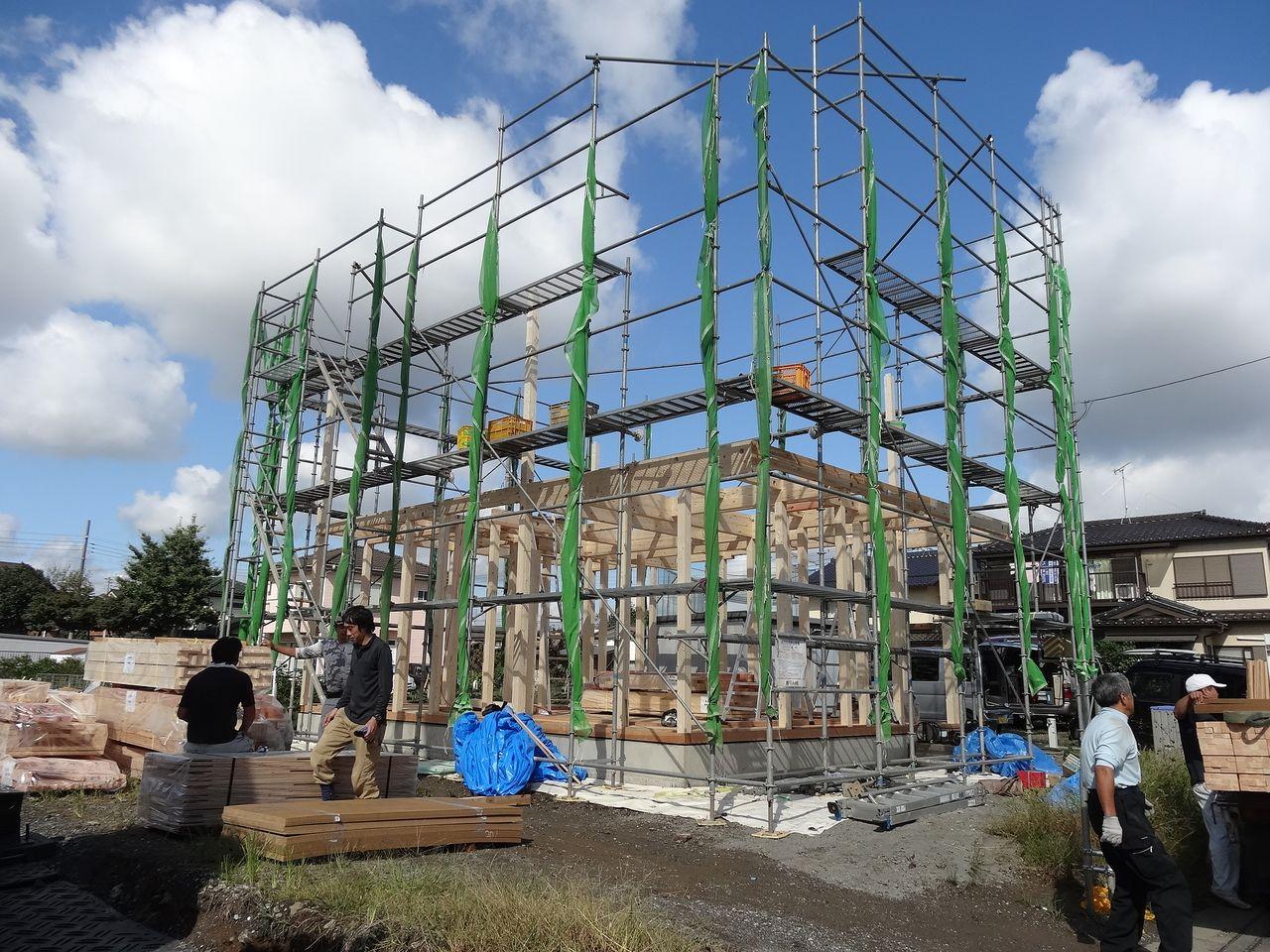 ファミリーホーム「石橋」の建築現場状況